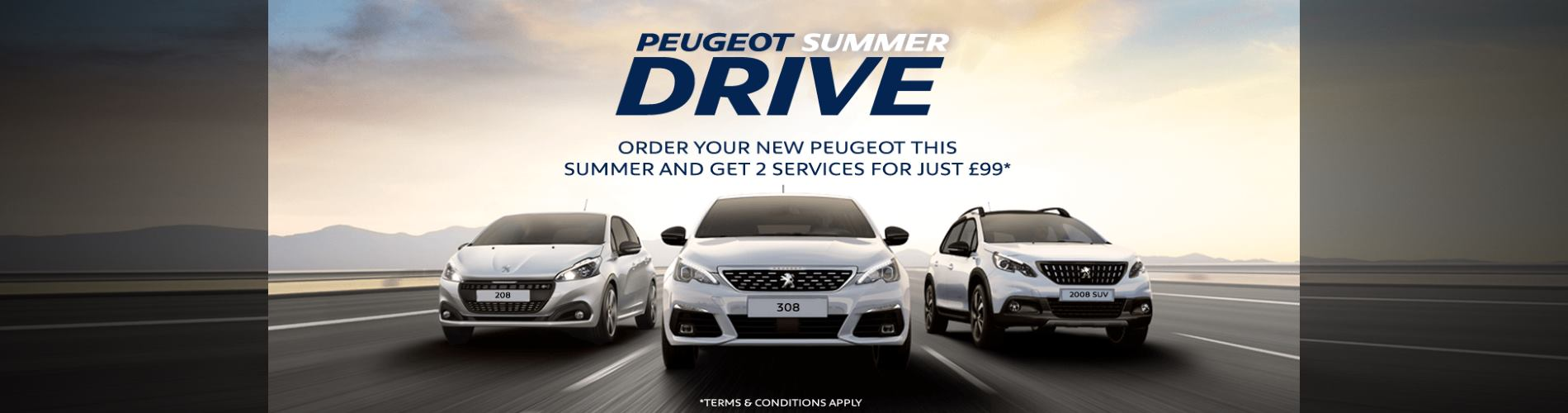 New Peugeot Summer Drive Offer at Wycliffe Peugeot Rugby